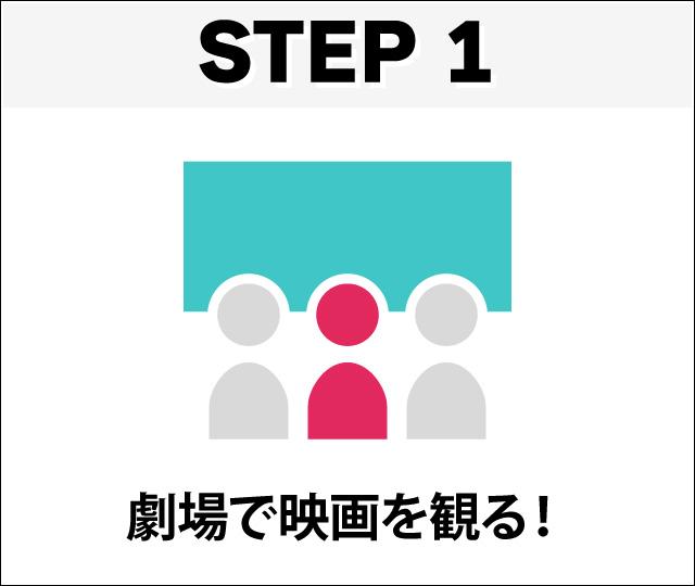 step1 劇場で映画を観る
