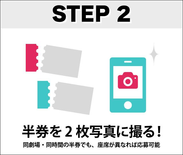 step2 半券を2枚写真に撮る