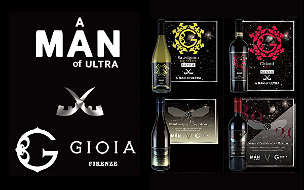 GIOIA × A MAN of ULTRA コラボレーションワイン